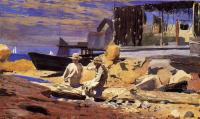 Homer, Winslow - Waiting for the Boats