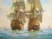 Hunt, Geoff - Victory races Temeraire for the enemy line, Trafalgar, 21st October 1805