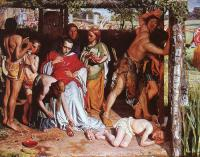 Hunt, William Holman - A Converted British Family Sheltering a Christian Missionary from the Persecution of the Druids