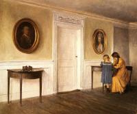 Ilsted, Peter - Two of the Artist's Daughters At Liselund