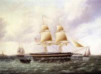 James E Buttersworth - American Brig off New York