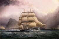 James E Buttersworth - American Frigate off Gilbraltar