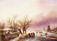 Jan Jacob Coenraad Spohler - A Winter Landscape