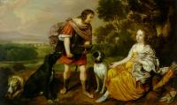 Jan Mytens - Portrait histoire of a young man and lady as Meleager and Atalanta