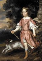 Jan Mytens - Portrait of the son of a nobleman as Cupid