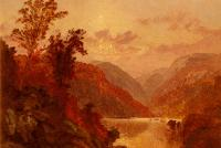 Jasper Francis Cropsey - Crospey Jasper Francis In The Highlands Of The Hudson