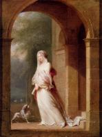 Jean-Baptiste Mallet - A Young Woman Standing In An Archway