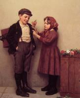 John George Brown - The button Hole Posy