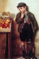 John George Brown - Eyeing the Fruit Stand