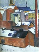 Macke, August - Oil Painting