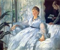 Manet, Edouard - Reading ( Mme Manet and Leon)