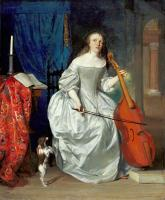 Metsu, Gabriel - Woman Playing the Viola da Gamba