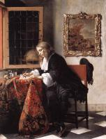 Metsu, Gabriel - Man Writing a Letter