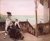 Morisot, Berthe - In a Villa at the Seaside