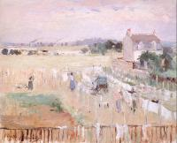 Morisot, Berthe - Hanging the Laundry out to Dry