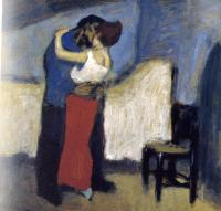Picasso, Pablo - embrace in an attic
