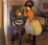 Picasso, Pablo - girl at her dressing table