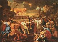 Poussin, Nicolas - The Adoration of the Golden Calf, approx