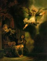 Rembrandt - The Archangel Leaving the Family of Tobias