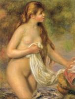 Renoir, Pierre Auguste - Bather with Long Hair