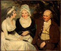 Sir Henry Raeburn - John Johnstone Betty Johnstone and Miss Wedderburn