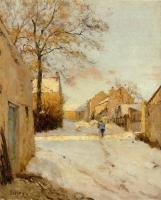 Sisley, Alfred - A Village Street in Winter