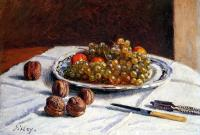 Sisley, Alfred - Grapes And Walnuts On A Table