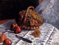 Sisley, Alfred - Still Life, Apples And Grapes