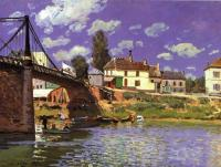 Sisley, Alfred - The Bridge at Villeneuve la Garenne