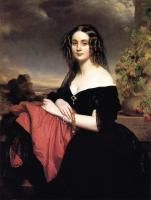 Winterhalter, Franz Xavier - Portrait of Claire de Bearn Duchess of Vallombrosa