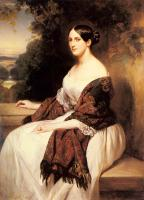 Winterhalter, Franz Xavier - Portrait of Madame Ackerman