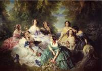 Winterhalter, Franz Xavier - The Empress Eugenie Surrounded by her Ladies in Waiting
