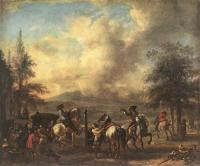 Wouwerman, Philips - Riding School