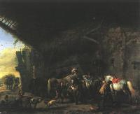 Wouwerman, Philips - Scene in front of an Inn