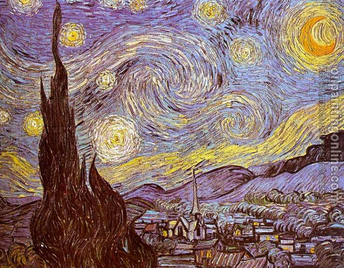Gogh, Vincent van - The Starry Night - Canvas Painting For Sale