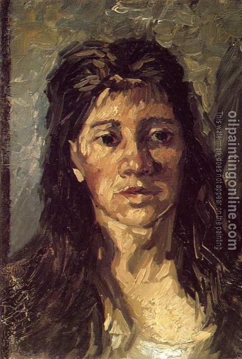 Gogh, Vincent van - Head of a Woman with Her Hair Loose - Canvas ...