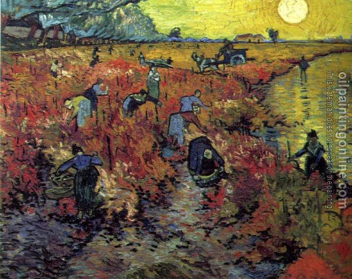 Gogh, Vincent van - The Red Vineyard - Canvas Painting For Sale