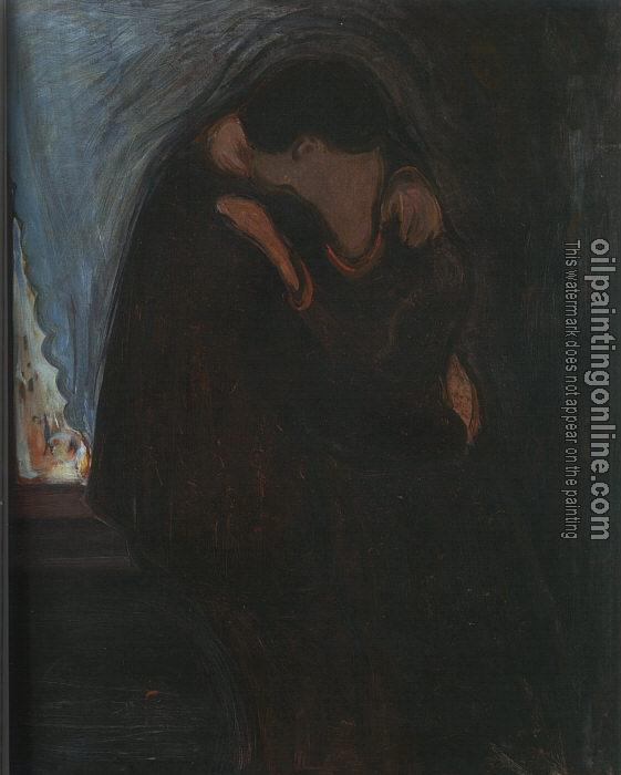Munch Edvard The Kiss Canvas Painting For Sale