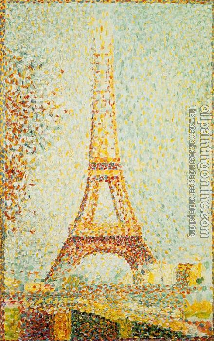 Georges Seurat Eiffel Tower Seurat Georges The Eiffel
