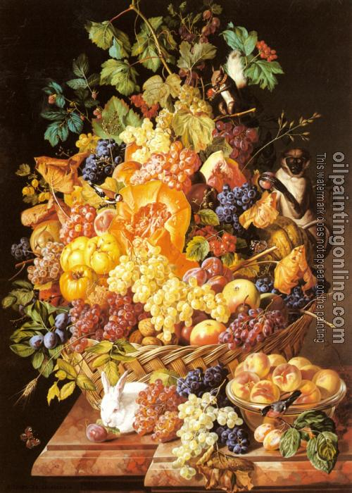 Zinnogger, Leopold - A Basket of Fruit with Animals